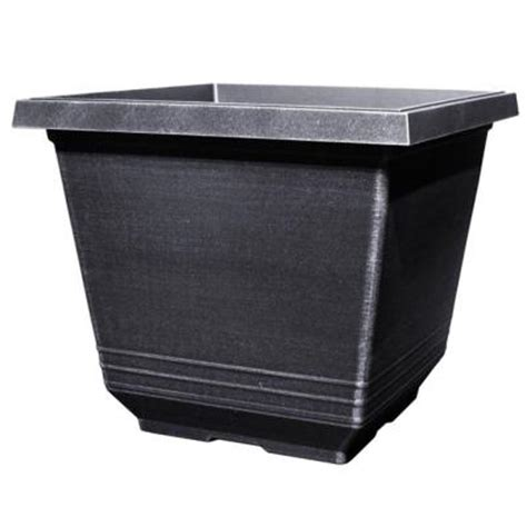 Square Plastic Planter by 14 In Torino Square Silver Plastic Planter Sd333e Si
