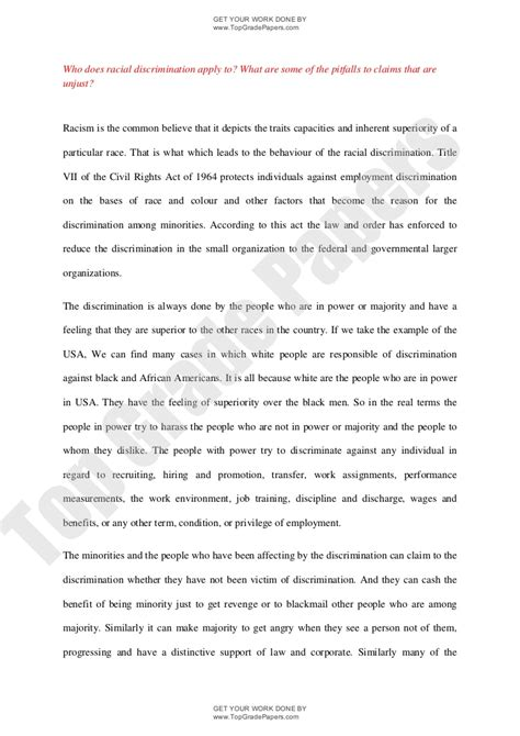 Tattoo Discrimination Research Paper | essays on discrimination essays on discrimination essays