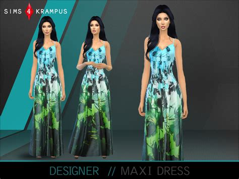 design clothes the sims 4 designer maxi dress by sims4krus at tsr 187 sims 4 updates