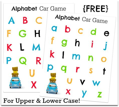 printable games with the alphabet 20 car games and activities