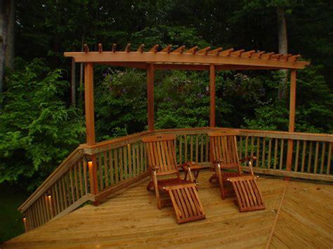 cedar trellis  deck traditional patio dc metro
