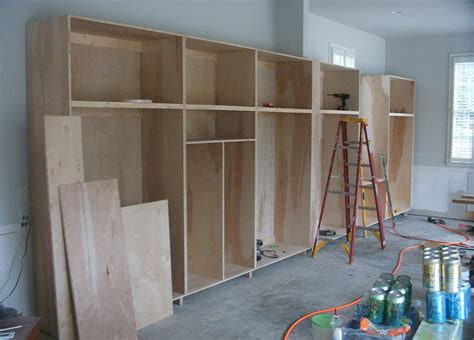 build garage wall cabinets unfinished custom diy wood garage storage cabinet