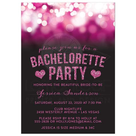 Fall Home Decor by Bachelorette Party Invitations Pink Party Lights