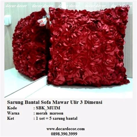 Sarung Bantal Sofa Set Merak jual sarung bantal set timbul
