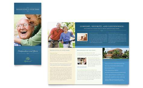 senior living community tri fold brochure template word