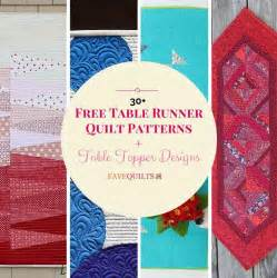 Charity Christmas Gift Ideas - 30 free table runner quilt patterns and table topper