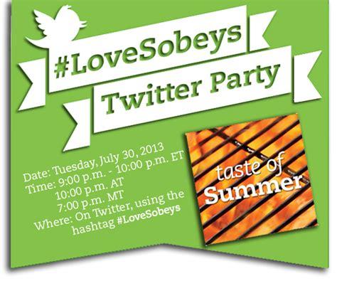Www Sobeys Com Mysobeys 1000 Gift Card 2017 - lovesobeys taste of summer twitter party amotherworld