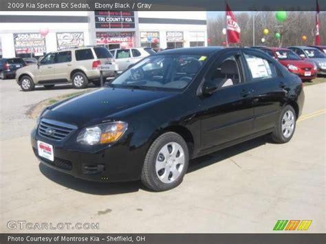 Kia Spectra Black Black 2009 Kia Spectra Ex Sedan Gray Interior