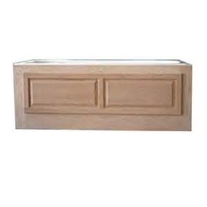 shop watertech whirlpool baths oak tub skirt at lowes