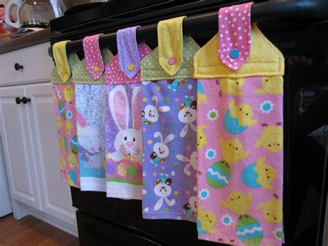 kitchen towel craft ideas simply diy 2 spring hanging towels