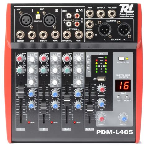 Mixer 4 Channel power dynamics pdm l405 pa mixer 4 channel dj city