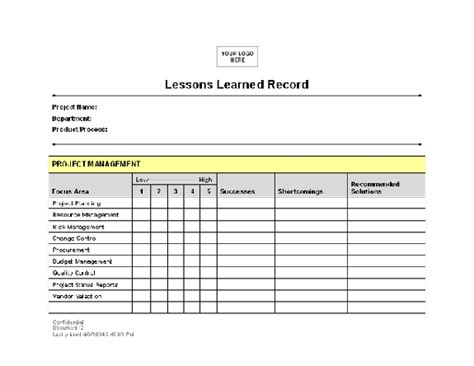Lessons Learned Template Peerpex Lessons Learned Project Management Template