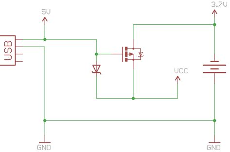 power mosfet diode batteries is it possible to make a power auto selector oring with just a diode and mosfet