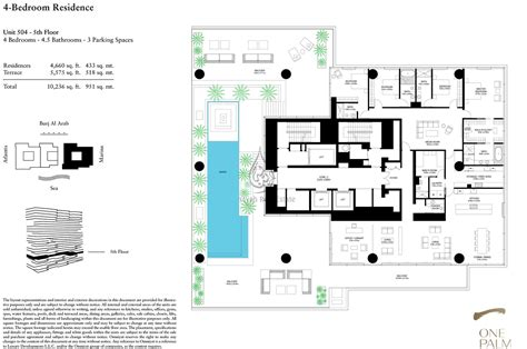 One Palm 3 Bedroom Floor Plan 1