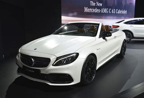 mercedes e63 amg convertible 2017 mercedes amg c63 cabriolet debuts in new york live