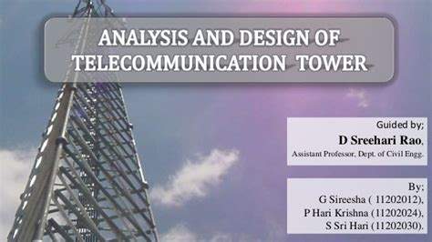 analysis  design  telecommunication tower