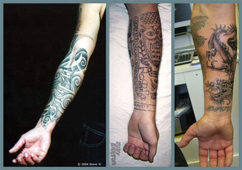 tattoo on middle of arm hand x ray tattoo