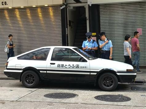 jay chou initial d initial d car in hong kong but this time it is fined by