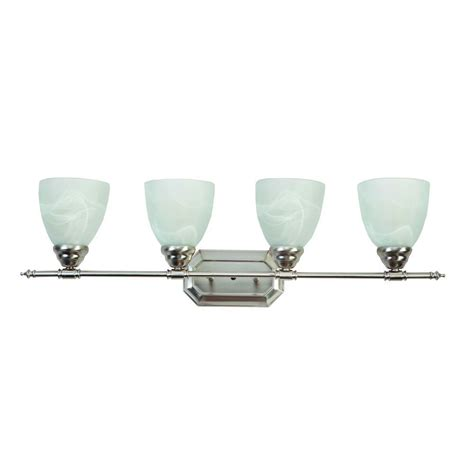 Yosemite Home Decor Vanity Lighting Series 4 Light Brushed Bathroom Vanity Light Shades