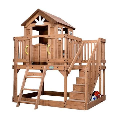 Backyard Discovery Scenic Playhouse by Scenic Heights Wooden Playhouse