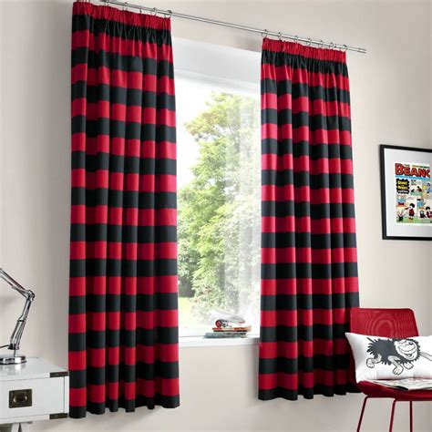 Stunning black and red curtains for modern touch atzine com