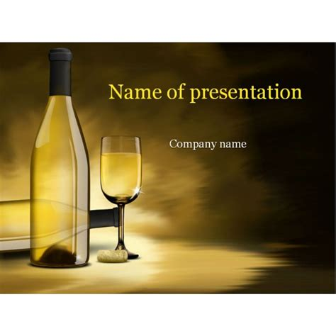 powerpoint templates free wine white wine powerpoint template background for presentation