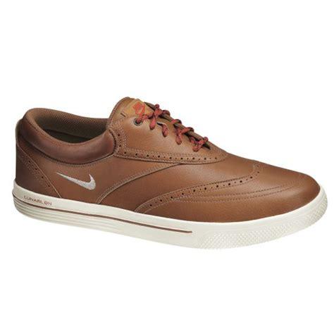 nike 2013 lunar swingtip leather golf shoes mens brown