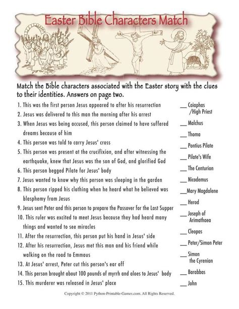 printable easter quiz easter printable party games