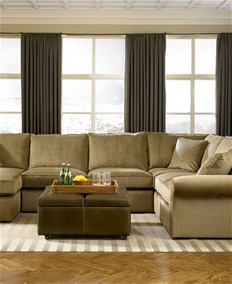 macy s living room furniture fabric sectional living room furniture collection