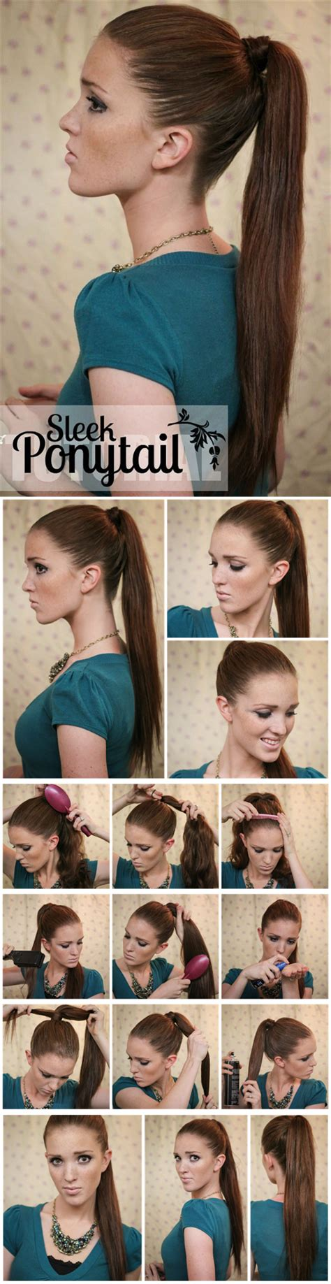 5 one minute basic ponytail 5 one minute basic ponytail hairstyles tutorial for daily