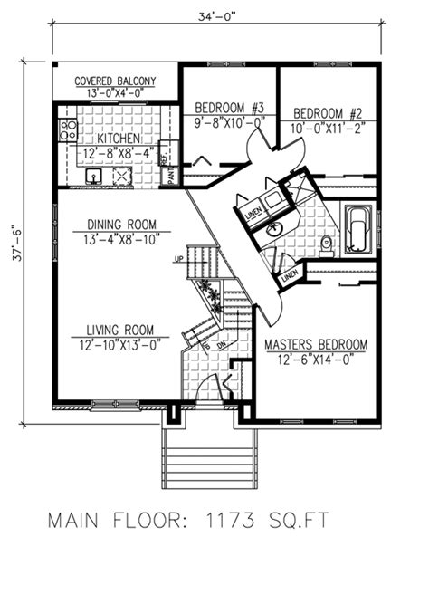 375 square feet house plan 3 beds 2 baths 1788 sq ft plan 138 375