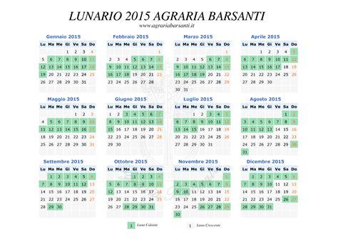 lunario 2016 calendario 8494135538 calendario lunar lunario 2015 calendario della luna 2015 agraria barsanti