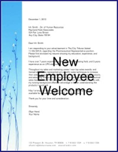 New Hire Announcement Sle by New Employee Welcome Letter Welcome New Employee Announcement Www Pixshark Pin New Employee