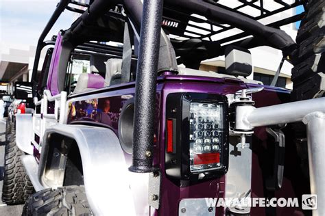 purple jeep no doors 2013 sema purple kao jeep jk wrangler 4 door