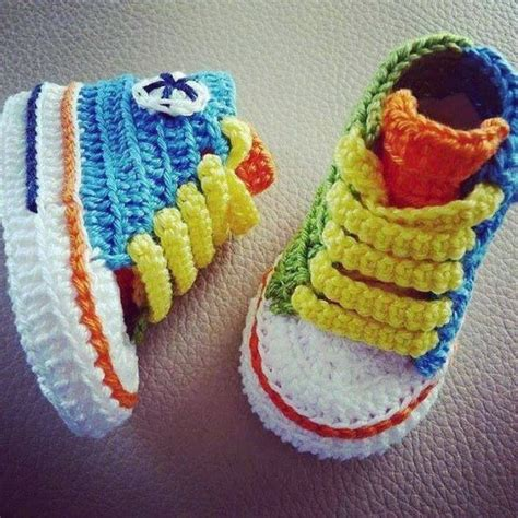 converse knitted booties pattern converse crochet booties the whoot