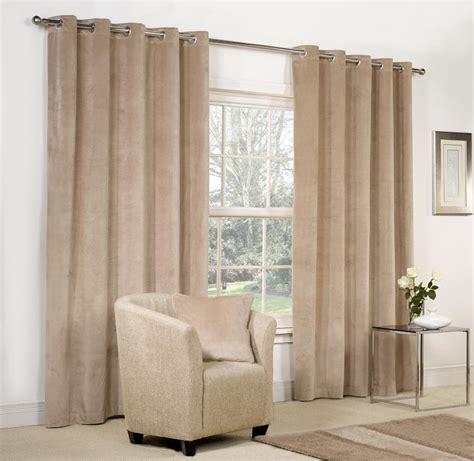 Velvet ringtop lined window door curtains brown red grey blue beige ebay