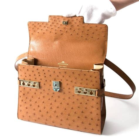 Delvaux Tempete Ostrich Bag delvaux tempete bag ostrich gold at 1stdibs