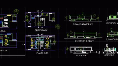 detached house dwg block  autocad designs cad