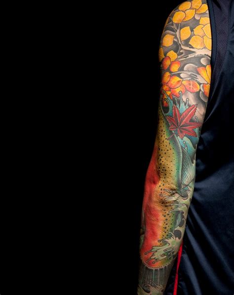 thompson tattoo salmon sleeve thompson