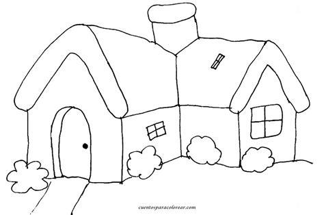 imagenes para pintar la casa dibujos para colorear casas