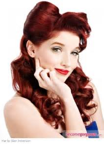 50s pin up hairstyles for long hair pin up hairstyles 6 215x300