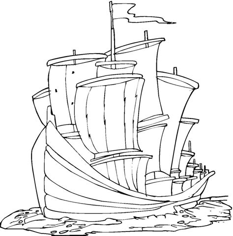 free coloring pages of the nina ship
