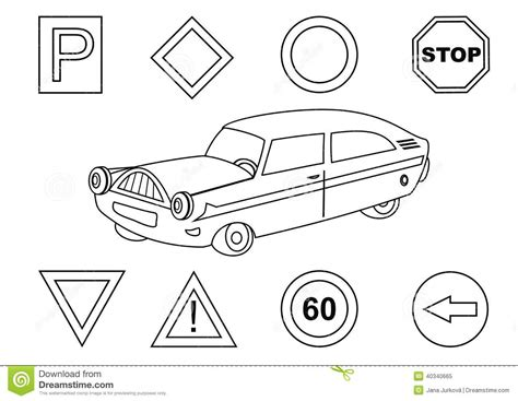 traffic safety coloring book coloring pages