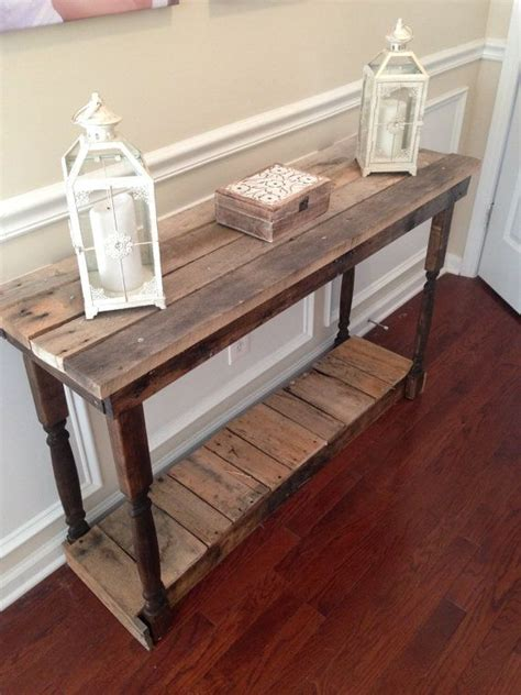 wood entry table rustic foyer entry table reclaimed repurposed by