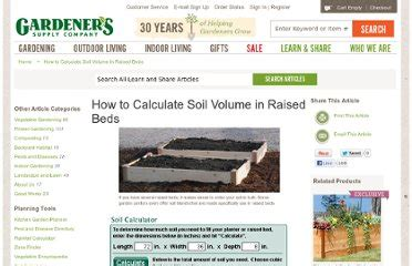 raised bed soil calculator gardening xlade pearltrees