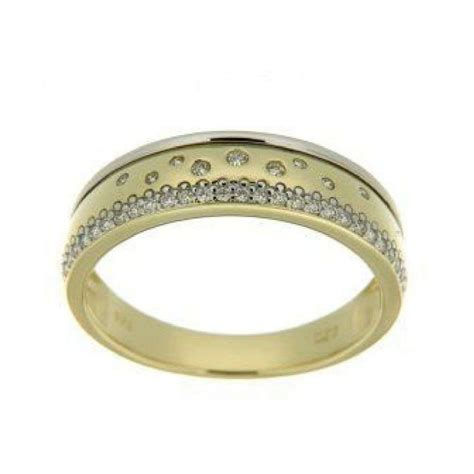 9ct yellow and white gold band dress ring