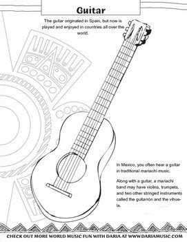 mariachi guitar coloring page music crafts guitar and cinco de mayo on pinterest
