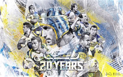 Texture Paint Designs 20 Years North Queensland Cowboys Wallpaper By Skythlee