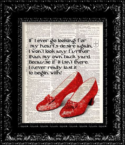 ruby slippers quote ruby slippers wizard of oz quotes quotesgram