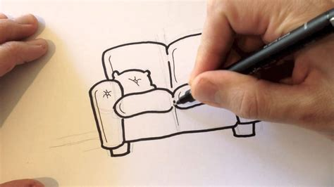 how to draw a couch easy drawing a cartoon couch desenhando um sof 225 youtube